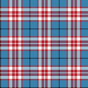 Thomson / Thompson tartan - red on blue