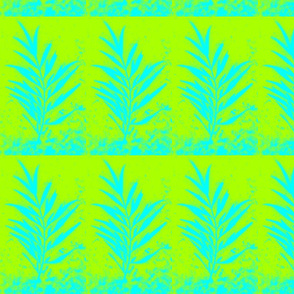 Green & Teal Leaves I