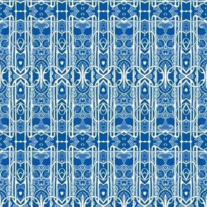 Third Floor, Going Up (Delft blue)