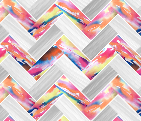 Herringbone Parquetry - Sunset fabric by pinky_wittingslow on Spoonflower - custom fabric