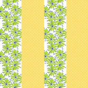 Daisy Dot Stripe Blue