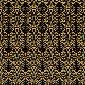 Hypnotic Roundabouts Gold Black
