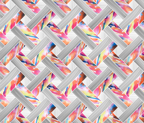 Basketweave Parquetry - Sunset fabric by pinky_wittingslow on Spoonflower - custom fabric