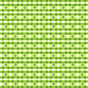 Green peppered gingham