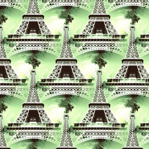 The Eiffel Tower green