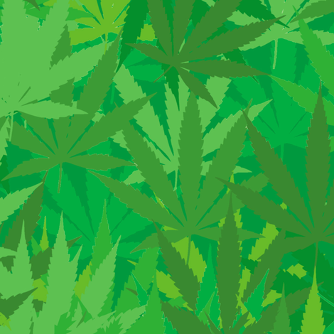 Green Weed home groan fabric by susiprint on Spoonflower - custom fabric