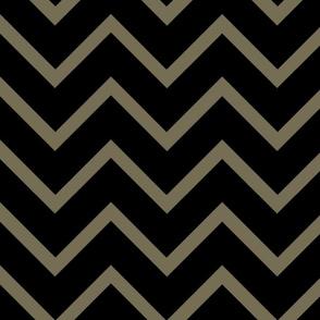 Chevron black/brown