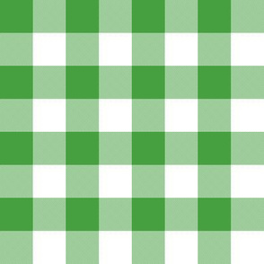 "1"" Christmas tree green gingham"