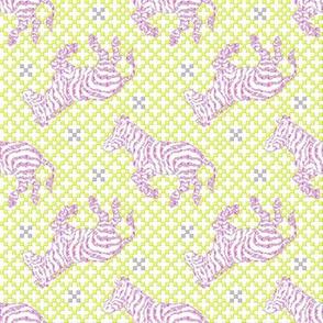Zebra Charcoal Pink/Grey/Lime~ Paris Bebe