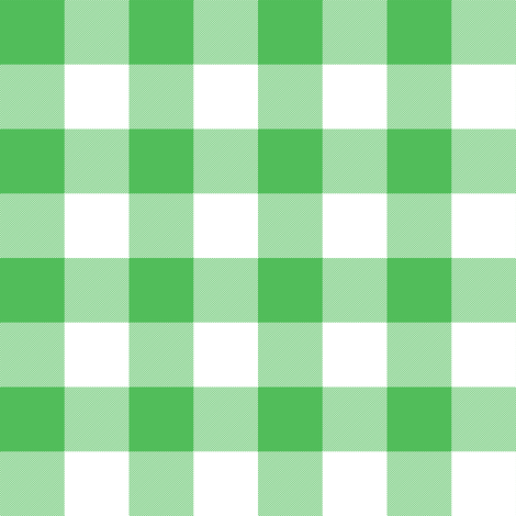Spearmint green one-inch gingham fabric by weavingmajor on Spoonflower - custom fabric