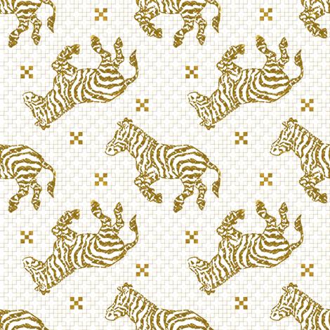 Zebra Charcoal Gold~ Paris Bebe fabric by parisbebe on Spoonflower - custom fabric