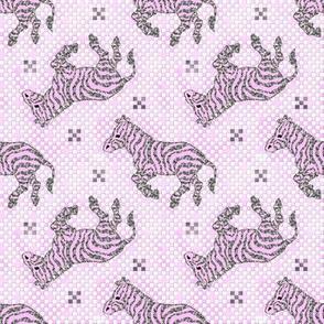 Zebra Charcoal pink~ Paris Bebe