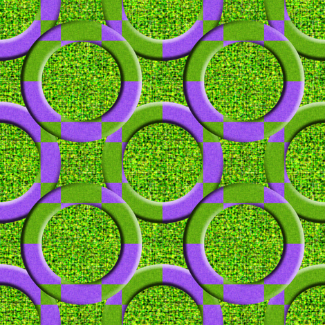 Circles on Dill Pickle Green fabric by anniedeb on Spoonflower - custom fabric