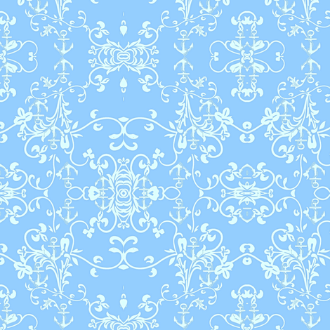 White Anchor fabric by cruzangirl on Spoonflower - custom fabric