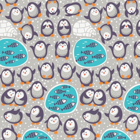 funny penguins fabric by penguinhouse on Spoonflower - custom fabric
