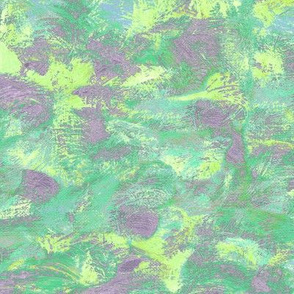 abstract paint swirls - lime, purple and green
