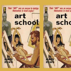 Pulp Fiction Pillow Cover #5: Art School