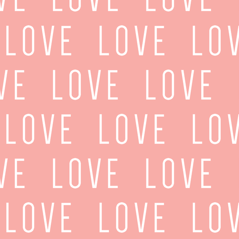 LOVE // pink fabric by littlearrowdesign on Spoonflower - custom fabric