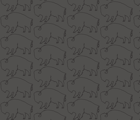 Bison_Charcoal fabric by kelly_korver on Spoonflower - custom fabric