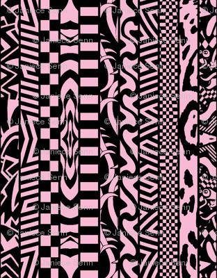 Fun Stripes Pink and Black