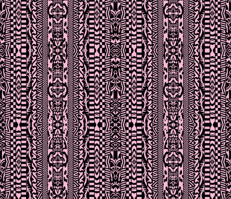 Fun Stripes Pink and Black fabric by whimzwhirled on Spoonflower - custom fabric
