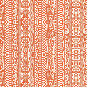 Fun Stripes tangerine and white