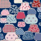 Bazaar (Blue/Red)    souvenir coin purse beads polka dots geometric fashion flower money