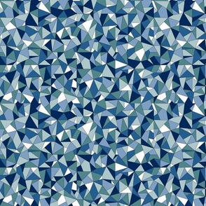 Biba (Blue) || geometric gem jewel facet sparkle triangle diamond