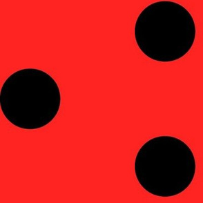 Linka Dots (Ladybug) (Black on Red)