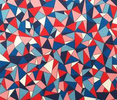 Biba (Red/White/Blue)    geometric gem jewel facet sparkle triangle diamond