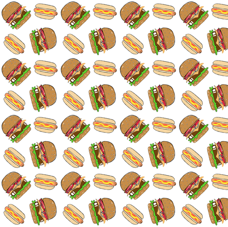 Cook_out_white fabric by tarareed on Spoonflower - custom fabric
