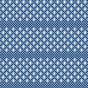 Vivianne (Blue) || souvenir coin purse bead polka dots geometric diamonds lattice