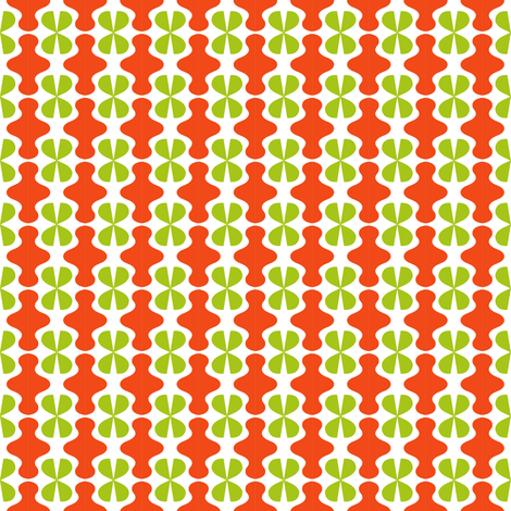 Red Spinners Green Jacks fabric by eve_catt_art on Spoonflower - custom fabric