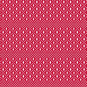 Vivianne (Red/White) || souvenir coin purse bead polka dots geometric diamonds lattice