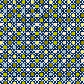 Goldie (Blue/Green)    souvenir coin purse bead polka dots geometric lattice diamonds marquee