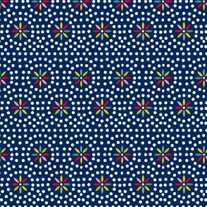 Celia (Blue) || souvenir coin purse bead polka dots geometric flower star starburst