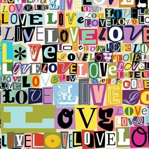 Letters of L-O-V-E* (Revisited)  || valentine valentines day love collage ransom note romance alphabet typography collage