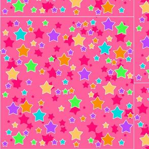 Pastel Stars On pink