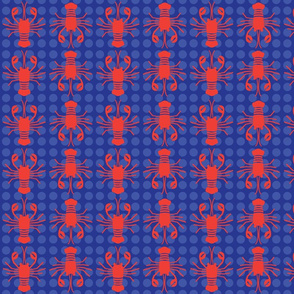 Red Lobster Print with Spots
