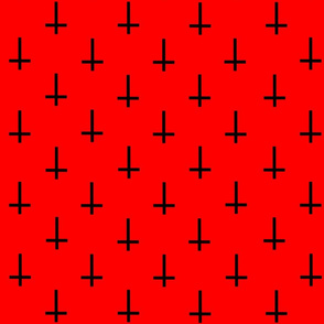 Crosses On Red