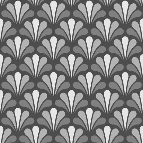 splash - greyscale dark fabric by sef on Spoonflower - custom fabric