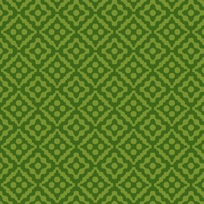 small tribal diamonds in moss