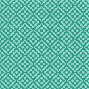 small tribal diamonds in teal