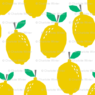 lemon - yellow fruit summer scandi minimal design