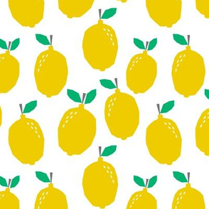 lemon - yellow fruit summer scandi minimal design