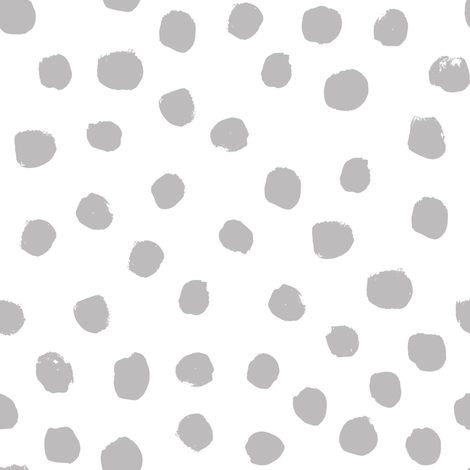 dots grey minimal black and white simple baby nursery spots fabric by charlottewinter on Spoonflower - custom fabric