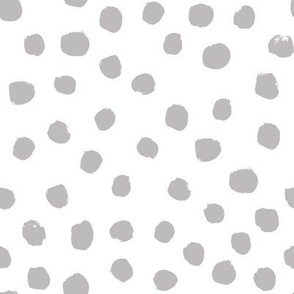 dots grey minimal black and white simple baby nursery spots