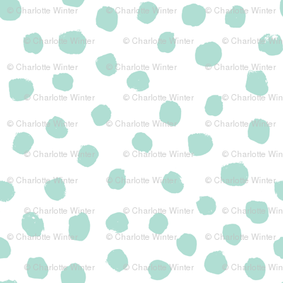 dots mint and white trendy baby minimal print