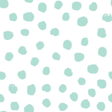 dots mint and white trendy baby minimal print fabric by charlottewinter on Spoonflower - custom fabric