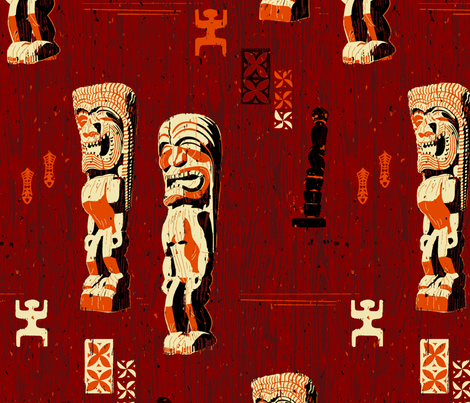 Pu'uhonua O Honaunau 1d fabric by muhlenkott on Spoonflower - custom fabric